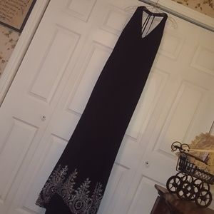 Floor length fully lined prom dress with beadwork